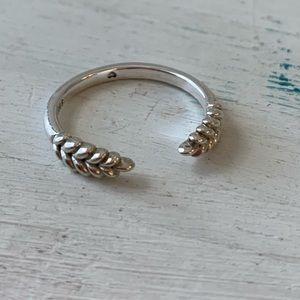Pandora Open Grains Ring Size 6 -6.5
